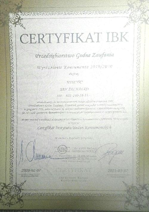 Naprawa Pralek Gliwice certyfikat